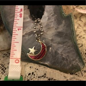 Jewelry - Moon and star necklace or bracelet charm.